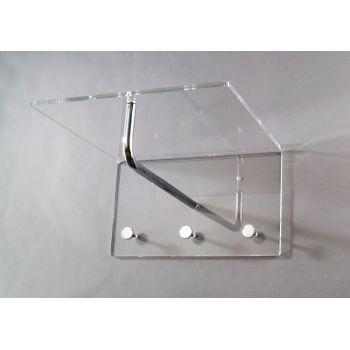 Attaccapanni Casper da parete in plexiglass trasparente