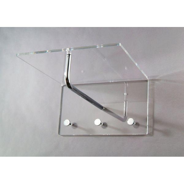 Attaccapanni da parete in plexiglass trasparente Casper