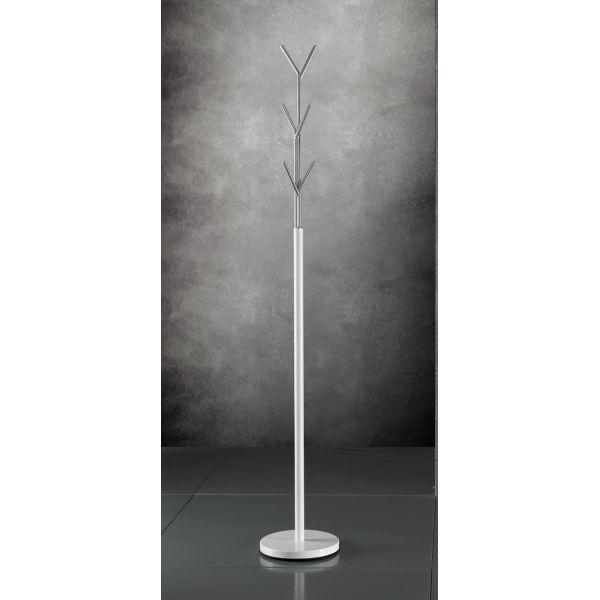 Appendiabiti da terra Alanis design in metallo bianco 177 cm