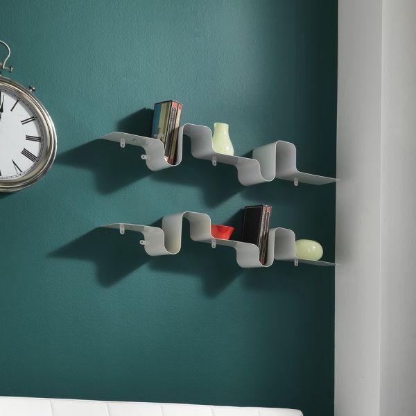 Mensola da parete in metallo bianco 85 cm Britney