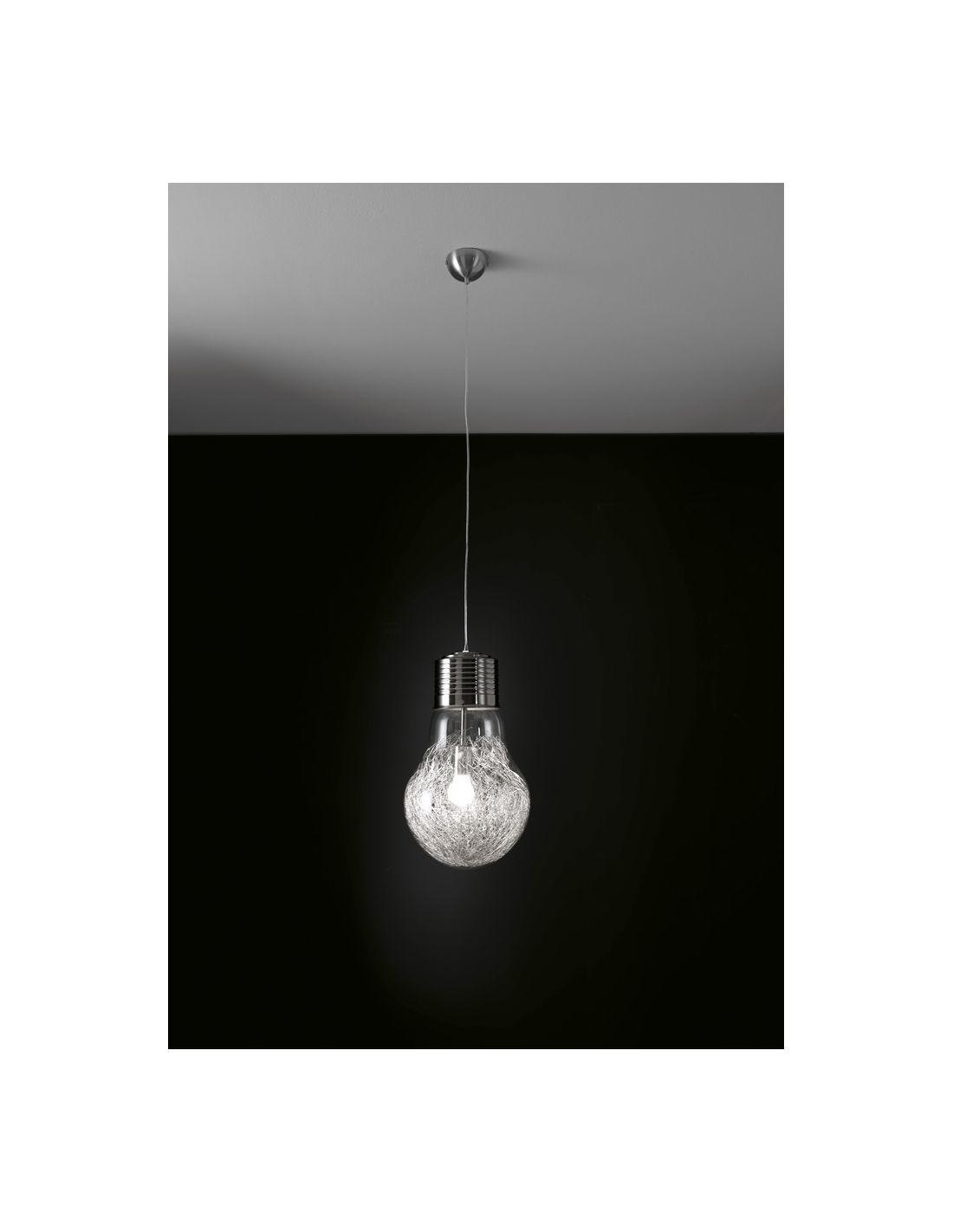 ... sospensione > Lampadario sospeso Gwenda design a forma di lampadina