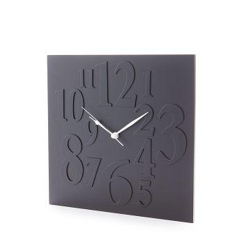 Orologio da parete Neville design in legno MDF bianco o nero