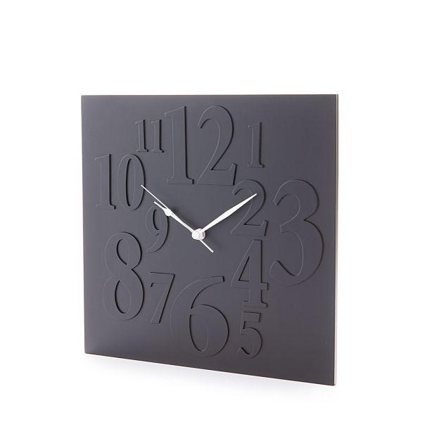Orologio da parete design in legno MDF nero Neville