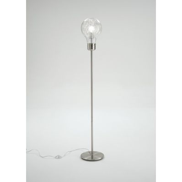Lampada piantana da terra in metallo e vetro 160 cm Gwenda