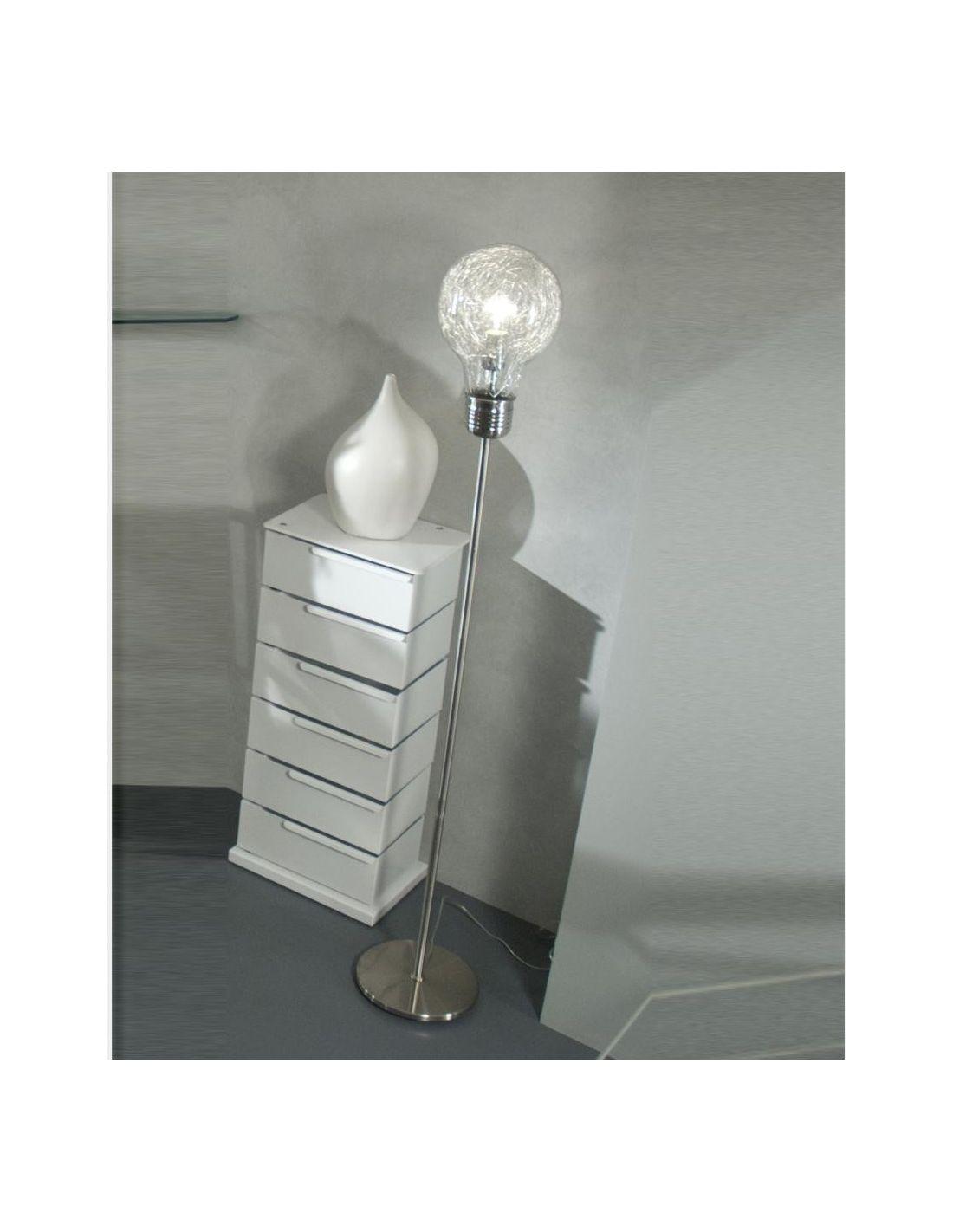 Lampada piantana gwenda da terra in metallo e vetro 160 cm for Lampada piantana ikea