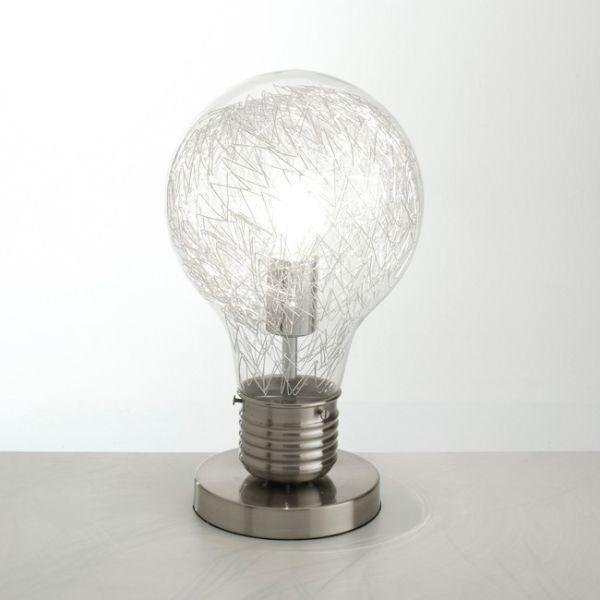 Lampada da tavolo a forma di lampadina in vetro Gwenda