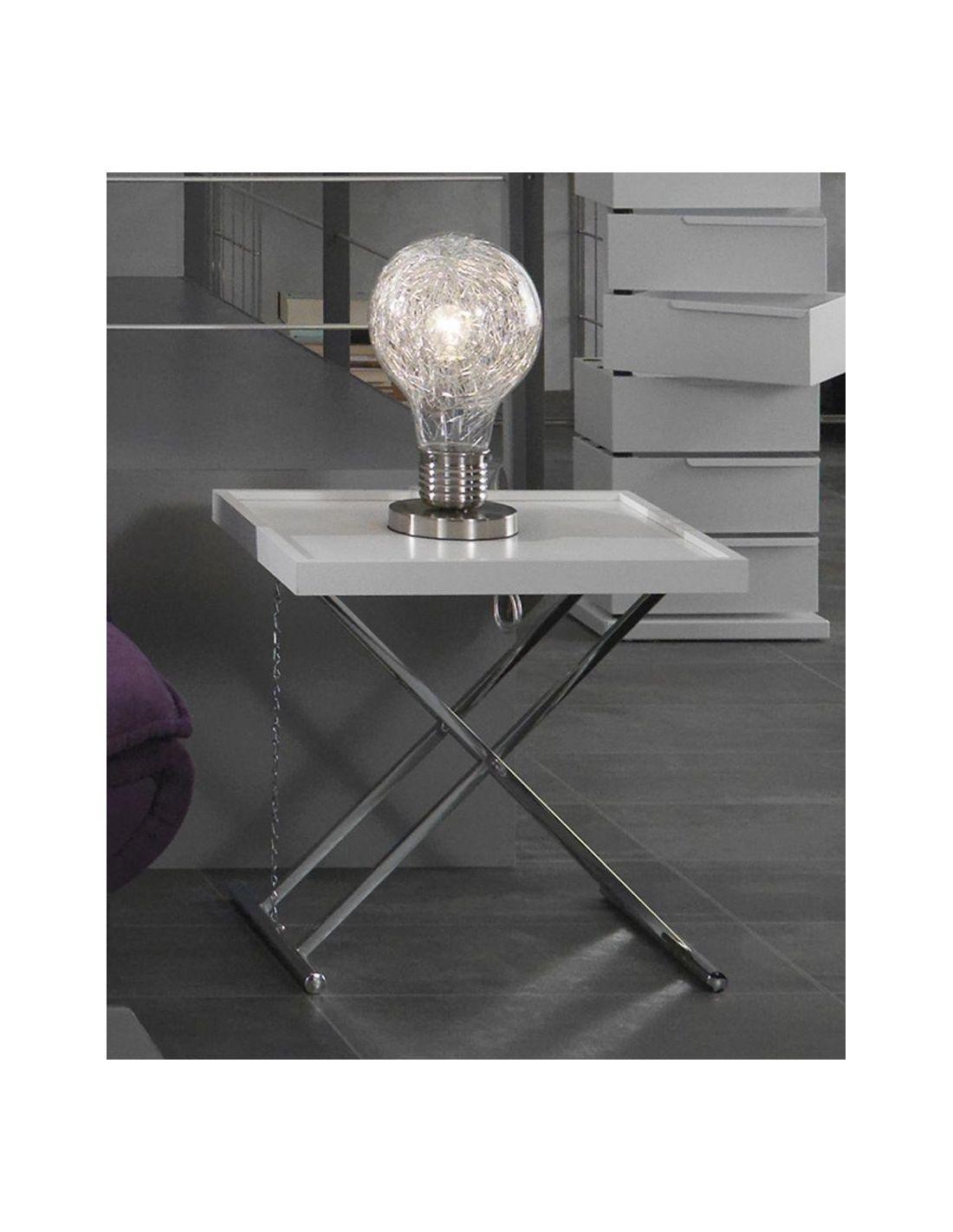 Lampada da tavolo gwenda a forma di lampadina in vetro - Lampada da tavolo di design ...