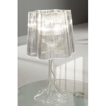 Lampada da comodino Karissa in acrilico trasparente