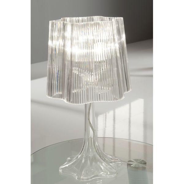 Lampada da comodino karissa in acrilico trasparente for Lampada comodino