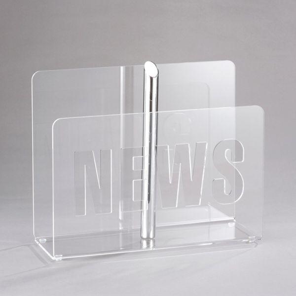 Portariviste da terra in plexiglass trasparente Trudi