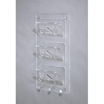 Portariviste da muro Brenda in plexiglass metacrilato