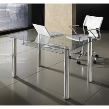 Scrivania moderna Roland per ufficio in vetro 120 x 70 cm