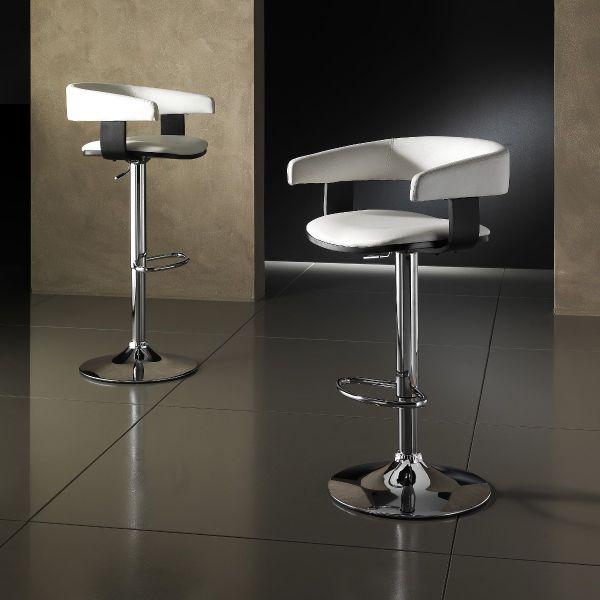 Sgabello da cucina VALMA design moderno in ecopelle bianca | eBay