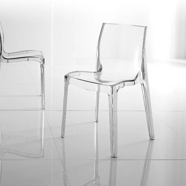 Sedia trasparente Isolda impilabile in policarbonato