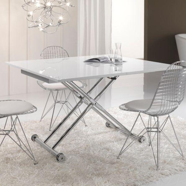 Tavolino da salotto trasformabile in tavolo 120 cm Morfosi