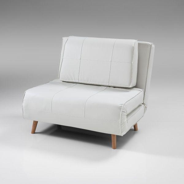 Poltrona letto singola convertibile design in ecopelle Narumi