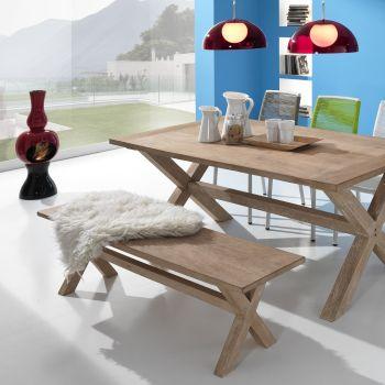 Panca da esterno PaloAlto in legno massello 135 | 160 | 200 cm