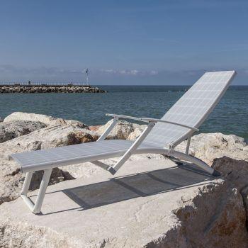 Lettini e sdraio per giardino lettino prendisole da spiaggia - Lettino piscina alluminio ...