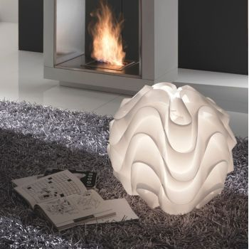 Lampada Modula da terra in polipropilene bianco diametro 55 cm