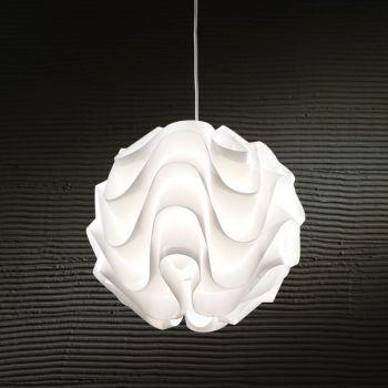Lampadario sospensione Modula in polipropilene bianco 44 cm
