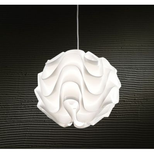 Lampadario sospensione in polipropilene bianco 44 cm Modula