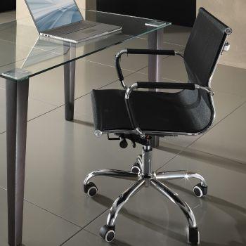 Sedia ufficio Nicky in tessuto nero schienale basso