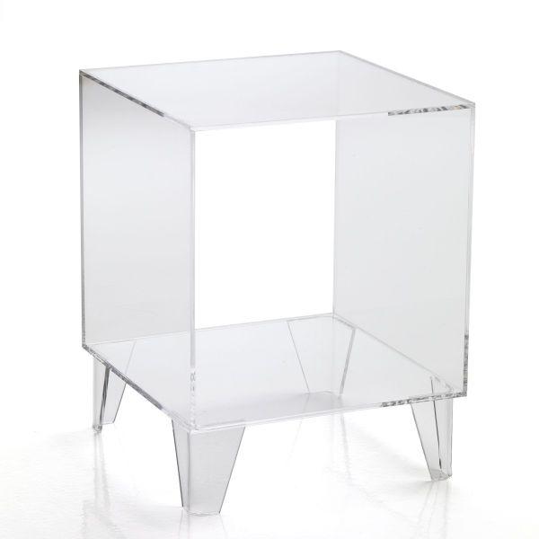 Tavolino trasparente Evidence da salotto in metacrilato 35 x 35 cm