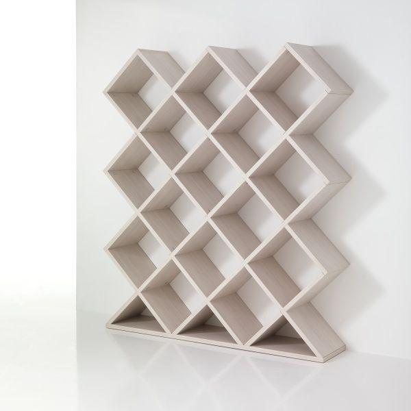 Libreria divisoria a nido d'ape in legno 140 x 160 cm MyNest