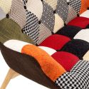 Divanetto patchwork ColorMix in tessuto patchwork multicolor a due posti
