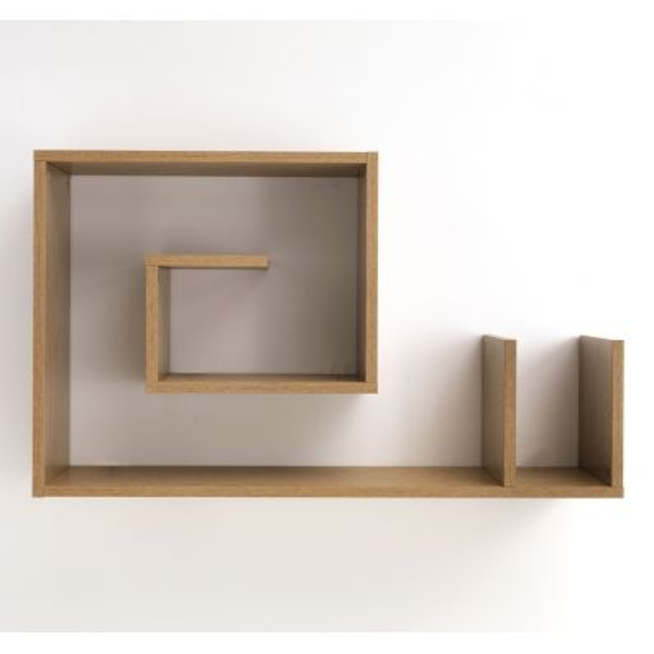 Mensola Karakol W in legno rovere poro aperto 90 x 56 cm