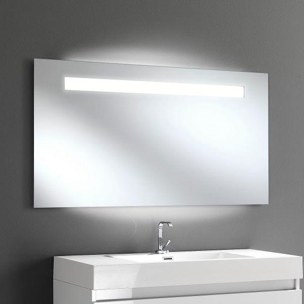Specchio LED Douglas Big illuminato per bagno design 125 x 60 cm