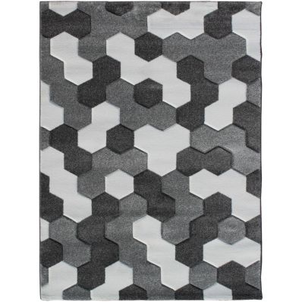 Tappeto salotto Atoms design moderno 140x190 cm o 160 x 230 cm