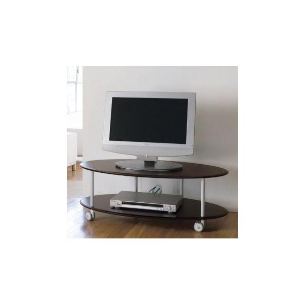 Elliptical carrello porta TV in legno MDF 100x50xh35 cm