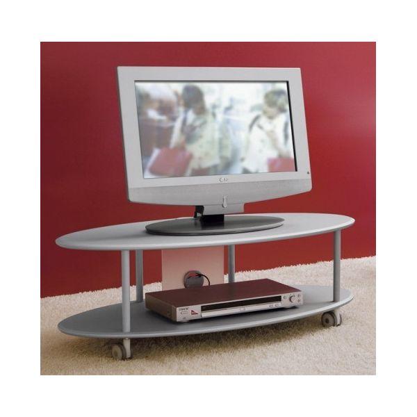 Carrelli Porta Tv Led.Elliptical Carrello Porta Tv Con Ruote In Legno Mdf 100x50xh35 Cm