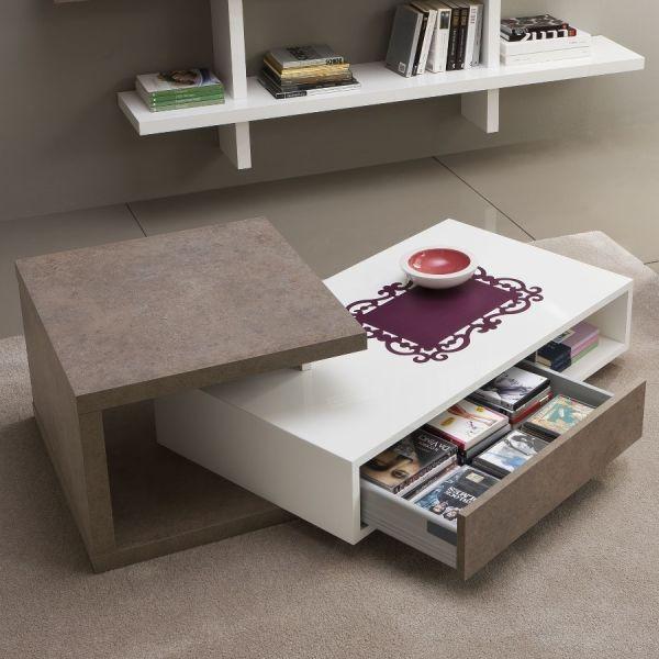 Tavolino da fumo in legno con contenitore 140 x 60 cm anders for Tavolino per salotto