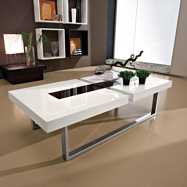 Tavolino Per Salotto Legno.Tavolino Da Salotto Klemens In Legno Metallo Vetro