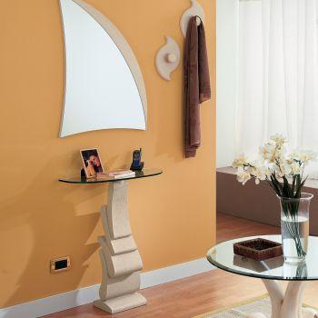 Composizione ingresso Linda consolle specchio e appendiabiti