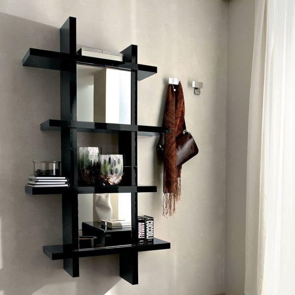Mobile per ingresso Kristian design moderno in legno con specchio
