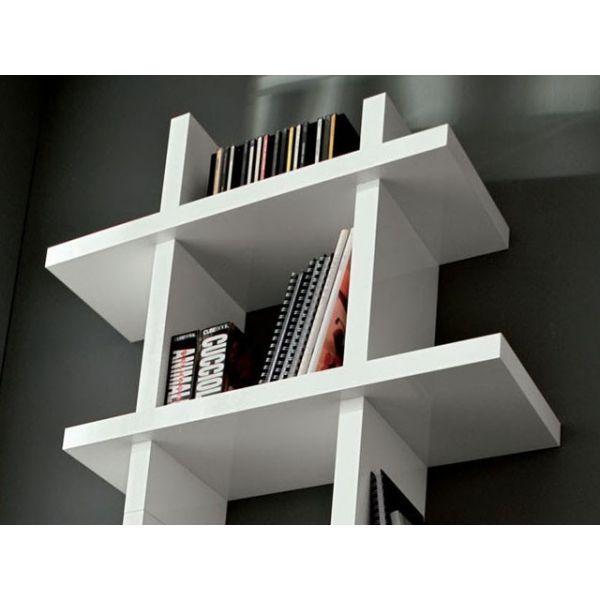 Samuel libreria porta dvd da parete in legno mdf laccato - Porta dvd da parete ...