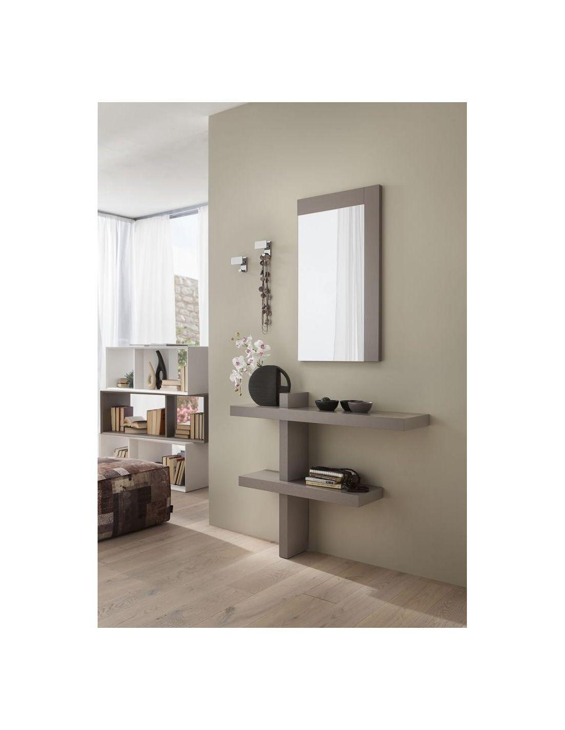 Consolle da ingresso a parete in legno lucido o poro for Parete da arredare