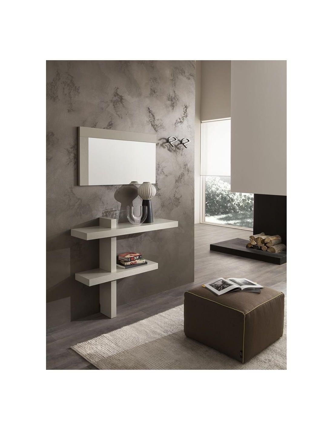 Consolle da ingresso bernard a parete in legno lucido o for Consolle ingresso vetro
