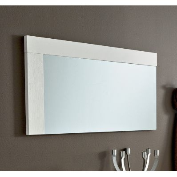 Bernard specchiera con cornice in legno design 93 x 53 cm