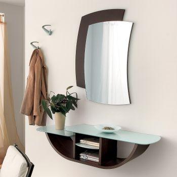 Yannick composizione per ingresso con consolle specchio appendiabiti