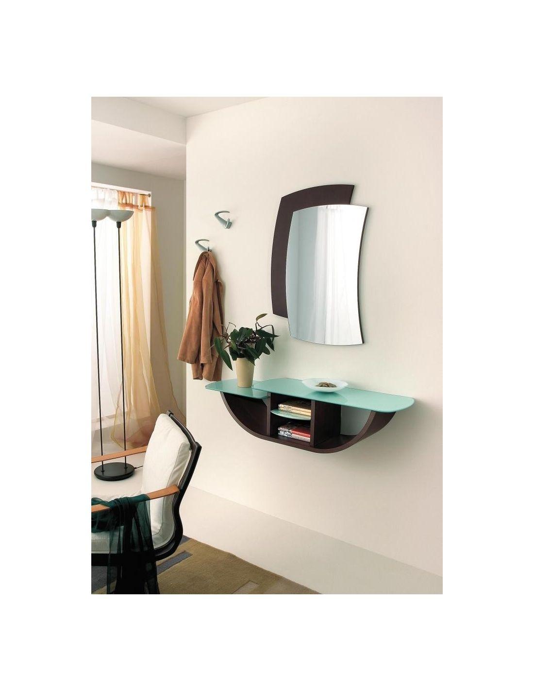 Yannick composizione per ingresso con consolle specchio for Entratina moderna