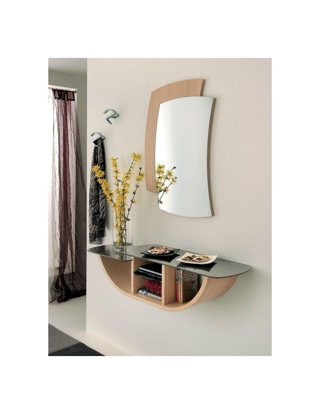 Yannick composizione mobili per ingresso in legno rovere for Mobili x ingresso