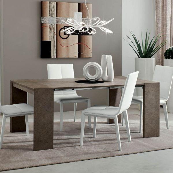 Consolle Antenor tavolo estendibile per ingresso in legno fino a 3 metri