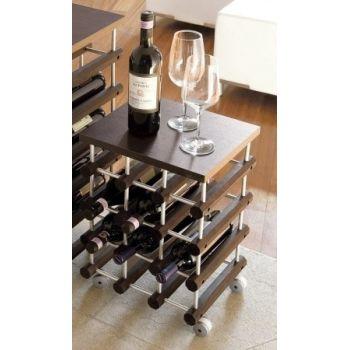 Cantinette portabottiglie di vino in legno componibili e - Porta vino ikea ...