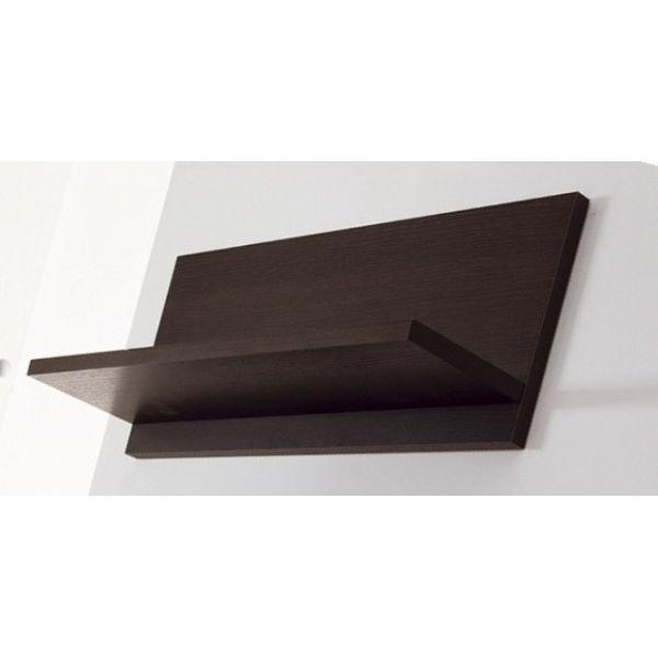 Mensola Tibor60 a muro 60 cm in legno Wenge' Bianco Arancio Verde