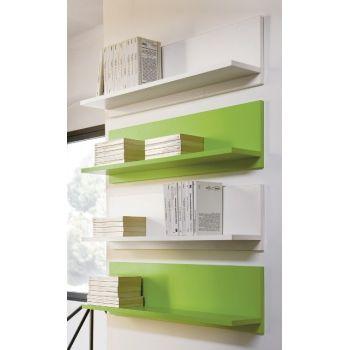 Mensola Tibor90 da parete 90 cm in legno Wenge' Bianco Arancio Verde