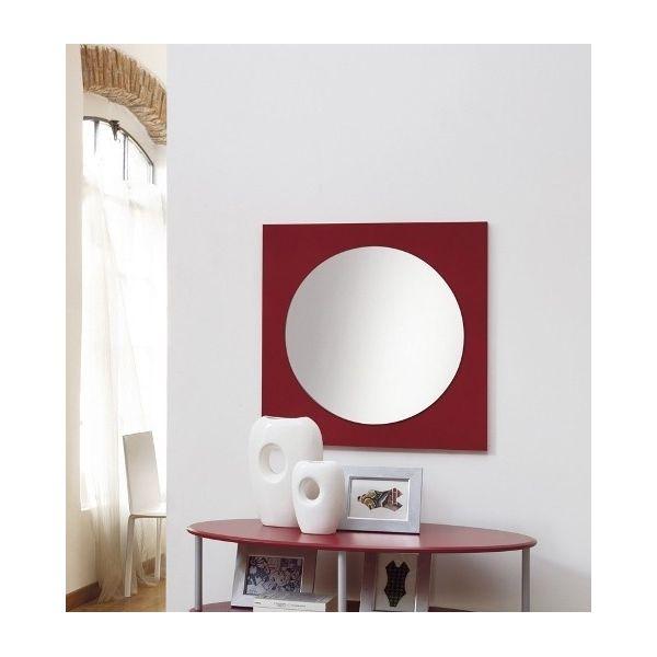 Specchiera moderna Giving da parete in legno 70 x 70 cm